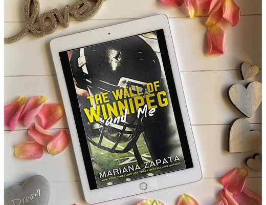Flatlay Book cover The wall of Winnipeg and me by Mariana Zapata Book review